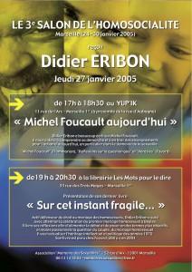 Affiche débat Eribon