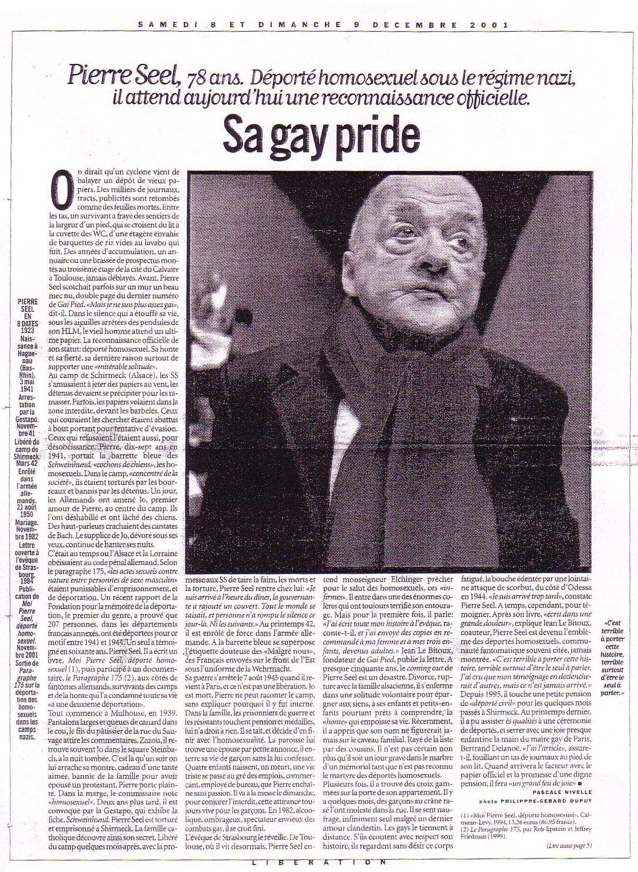 Article dans Libération sur Pierre Seel
