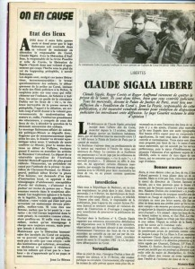 claude sigala libéré 1983