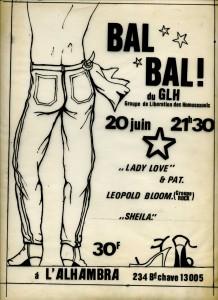 Affiches bal glh alhambra juin 78