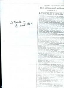 Article le Monde Ch de Leusse 4-80