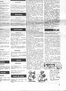 """Articles parus dans """" la Criée """" – 1976"""
