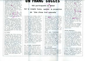 Le journal » Comme ça » –  Janvier  1980