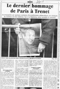 Charles Trenet, mort en février 2001