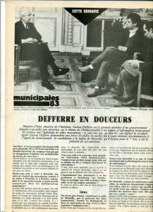 Defferre s'exprime, municipales 1983