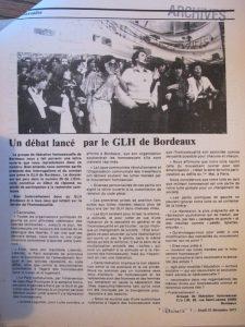 Articles parus dans l'Etincelle (OCT)  les GLH en France 1977 – 1978