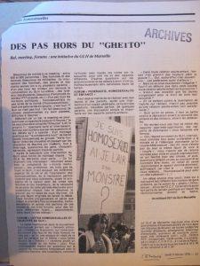 Articles parus dans l'Etincelle (OCT) GLH de Marseille 1978