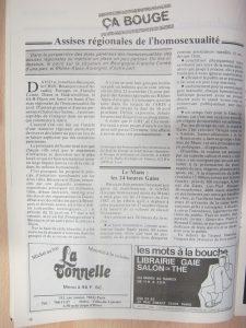 Homophonies n° 27 : assises régionales homos Est et Nantes janvier 1983