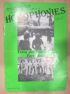 Homophonies n°12 octobre 1981 : couverture sur les lesbiennes