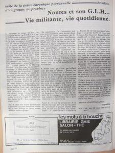 Homophonies n°14 novembre 1981 : GLH de Nantes