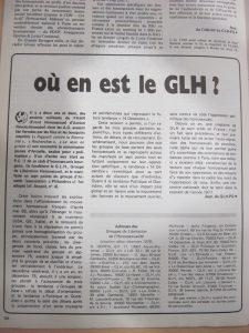 Naissance du GLH de Paris : Sexpol janvier 1977