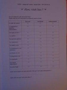 Ueeh 2000 questionnaire de satisfaction