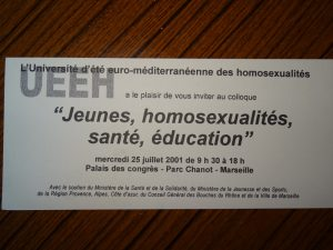 UEEH 2001 : Programme (extraits)