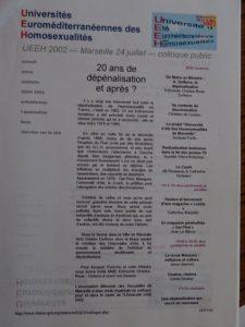UEEH 2002 : dossier de présentation de l'UEEH (extraits)