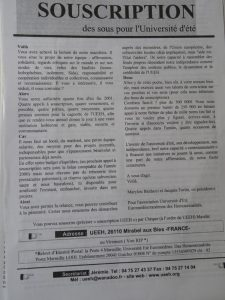 UEEH 2001 : Présentation (extraits)