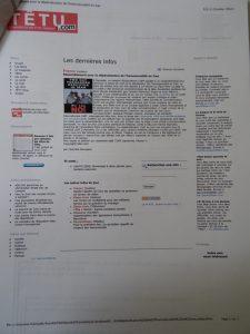 UEEH 2007 : revue de presse