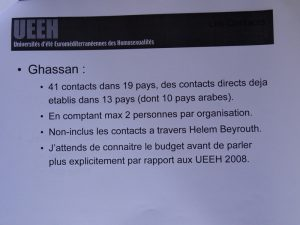 UEEH 2008 : cycle international (extraits)