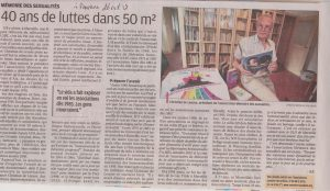 Article de la Provence sur Mémoire des sexualités 26-10-17