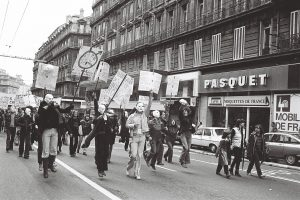 1er mai 1978 : le GLH manifeste masqué en fin de cortège