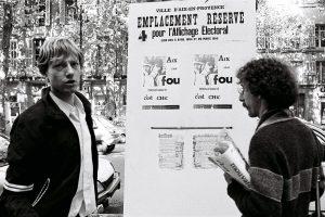 Photos de la campagne des municipales d'Aix en Provence en 1979 de la Mouvance Folle Lesbienne